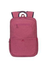 Czerwony plecak na laptopa RIVACASE w kolorowe wzory