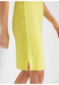 Sukienka shirtowa polo bonprix jasny oliwkowy - srebrnoszary. Typ kołnierza: polo. Kolor: żółty. Styl: elegancki #6