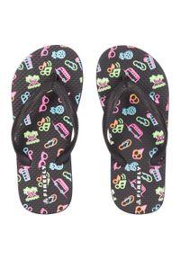 Japonki dla dzieci Firefly Madera 11 414804. Okazja: na spacer, na plażę. Materiał: guma. Wzór: aplikacja, paski, kolorowy. Styl: wakacyjny