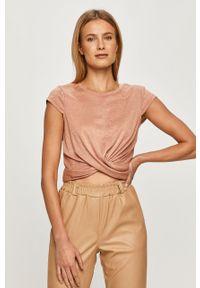 Różowa bluzka only casualowa, na co dzień
