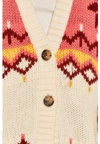 Wielokolorowy sweter rozpinany Tommy Jeans na co dzień, casualowy