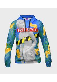 MegaKoszulki - Bluza damska fullprint z kapturem Free Your Style. Typ kołnierza: kaptur. Materiał: dresówka, dzianina