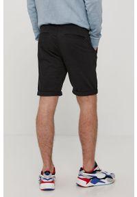 Czarne szorty Tom Tailor gładkie, casualowe, na co dzień