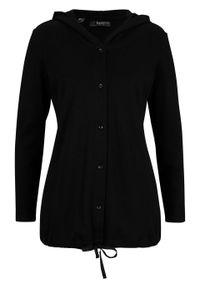 Czarna bluzka bonprix z kapturem