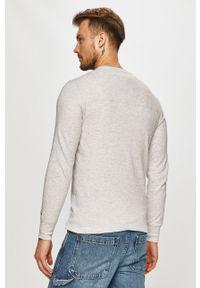 Szara koszulka z długim rękawem Tommy Jeans casualowa, na co dzień, gładkie