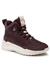 ecco - Sneakersy ECCO - Intervene GORE-TEX 76471202385 Fig. Kolor: czerwony. Materiał: skóra, materiał, nubuk. Szerokość cholewki: normalna. Styl: młodzieżowy