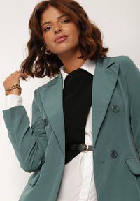 Renee - Zielona Marynarka Cileia. Kolor: zielony. Styl: glamour, klasyczny #3