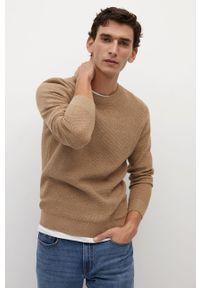 Sweter Mango Man casualowy, długi, na co dzień, z długim rękawem