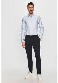 Niebieska koszula Calvin Klein na co dzień, casualowa, długa