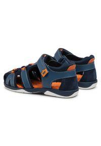 Mayoral - Sandały MAYORAL - 45.309 Azulon 40. Kolor: niebieski. Materiał: skóra, materiał. Sezon: lato