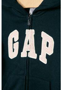 Niebieska bluza rozpinana GAP z aplikacjami, na co dzień