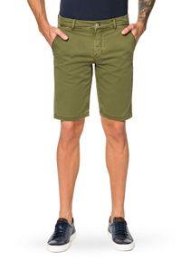 Lancerto - Spodenki Zielone Mexico. Kolor: zielony. Materiał: len, materiał, bawełna, elastan. Długość: krótkie. Sezon: lato
