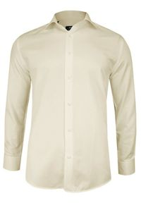 Elegancka koszula Grzegorz Moda Męska z długim rękawem, do pracy, długa