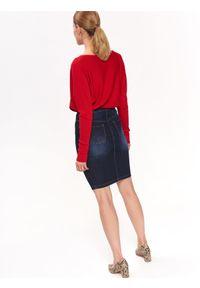 Czerwony sweter TOP SECRET z dekoltem w łódkę, długi, na co dzień #6