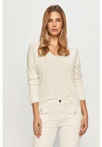 Biały sweter Morgan długi, z długim rękawem