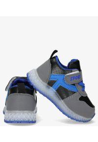 Casu - Szare buty sportowe na rzep casu 20x4/m. Zapięcie: rzepy. Kolor: szary