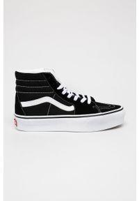 Vans - Trampki. Nosek buta: okrągły. Zapięcie: sznurówki. Kolor: czarny. Materiał: guma. Obcas: na platformie