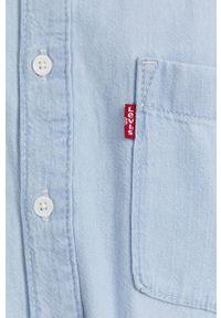 Levi's® - Levi's - Kombinezon. Okazja: na spotkanie biznesowe, na co dzień. Kolor: niebieski. Materiał: tkanina, bawełna. Długość rękawa: krótki rękaw. Długość: krótkie. Wzór: gładki. Styl: biznesowy, casual