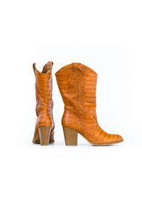 Kozaki Zapato wąskie, w kolorowe wzory