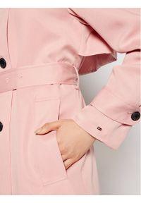 Różowy trencz TOMMY HILFIGER