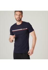 NYAMBA - Koszulka fitness slim. Kolor: niebieski. Materiał: poliester, elastan, bawełna, materiał. Sport: fitness