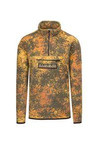 Napapijri - Bluza z polaru NAPAPIJRI T-CARPINO HZ. Typ kołnierza: kołnierzyk stójkowy. Kolor: żółty. Materiał: polar. Długość: krótkie. Wzór: aplikacja, nadruk. Sezon: jesień