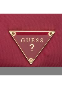 Guess - Kosmetyczka GUESS - Did I Say 90? Accessories PWDDIS P0460 BUR. Kolor: czerwony. Materiał: materiał