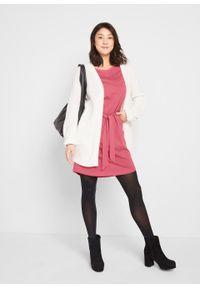Sukienka bawełniana oversize, krótki rękaw bonprix dymny malinowy. Kolor: różowy. Materiał: bawełna. Długość rękawa: krótki rękaw. Typ sukienki: oversize