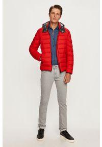 Czerwona kurtka Colmar z kapturem, casualowa, na co dzień