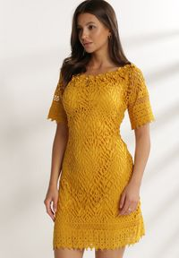 Renee - Żółta Sukienka Elrinielle. Kolor: żółty