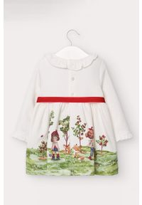 Kremowa sukienka Mayoral mini, rozkloszowana