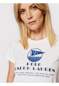 Polo Ralph Lauren T-Shirt Ssl 211827901001 Biały Regular Fit. Typ kołnierza: polo. Kolor: biały