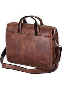 Torba Solier Brązowa męska torba na ramię, laptopa SOLIER LUCAS one size. Kolor: brązowy
