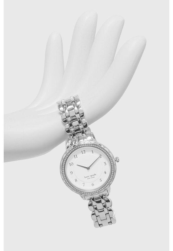 Kate Spade - Zegarek. Kolor: srebrny. Materiał: materiał