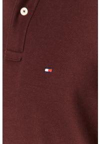 Brązowa koszulka polo TOMMY HILFIGER krótka, polo