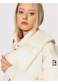 Liviana Conti Kurtka puchowa F1WW02 Beżowy Regular Fit. Kolor: beżowy. Materiał: puch