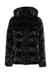 Cellbes Watowana kurtka z metalicznym fasonem Czarny female czarny 38/40. Kolor: czarny. Materiał: jersey, puch, materiał
