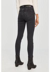 Czarne jeansy Trussardi Jeans klasyczne, z podwyższonym stanem