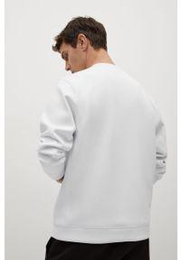 Biała bluza nierozpinana Mango Man gładkie, na co dzień, casualowa