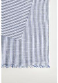 Mango Man - Chusta STRIPE. Kolor: niebieski. Materiał: tkanina
