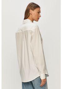 Biała koszula Liviana Conti klasyczna, na co dzień, z klasycznym kołnierzykiem, długa