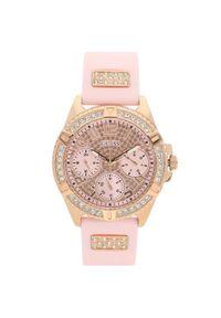 Różowy zegarek Guess
