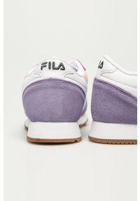 Wielokolorowe sneakersy Fila na sznurówki, na obcasie, z cholewką, na średnim obcasie