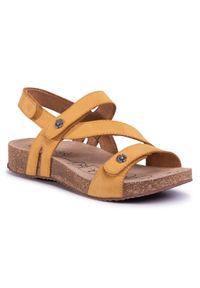 Żółte sandały Josef Seibel