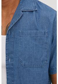 Niebieska koszula Premium by Jack&Jones gładkie, klasyczna