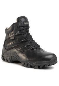 Czarne buty trekkingowe Bates Gore-Tex, z cholewką