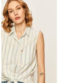 Niebieska koszula Levi's® krótka, w kolorowe wzory, na co dzień