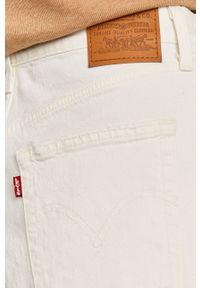 Białe jeansy Levi's® biznesowe, gładkie, z podwyższonym stanem