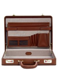 Neseser na laptopa MCKLEIN Daley 80434 Brązowy. Kolor: brązowy. Materiał: skóra. Wzór: aplikacja. Styl: klasyczny, retro #3
