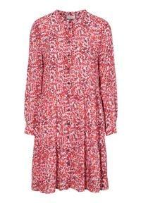 Freequent Sukienko-tunika we wzory Adney czerwony we wzory female czerwony/ze wzorem XXL (46). Typ kołnierza: kołnierz z falbankami. Kolor: czerwony. Materiał: wiskoza, włókno. Długość rękawa: długi rękaw